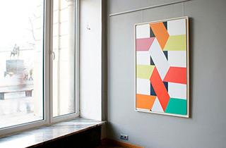 Joanna Stańko : Diagonal intervention : Oil on Canvas