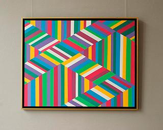 Joanna Stańko : Mosaic in the process : Oil on Canvas