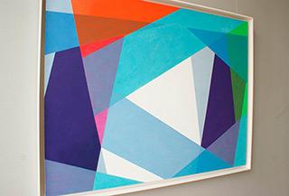 Joanna Stańko : Passage through the blues : Oil on Canvas