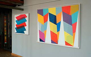 Joanna Stańko : Pillars of color : Oil on Canvas