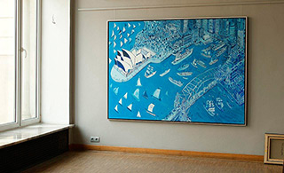 Edward Dwurnik : Sydney : Oil on Canvas