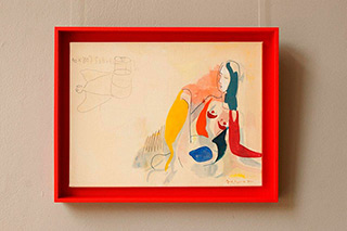 Jacek Cyganek : When you speak calmly : Tempera on canvas