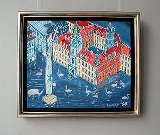Edward Dwurnik : Flood in Warsaw : Oil on Canvas