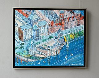 Edward Dwurnik : Szczecin : Oil on Canvas