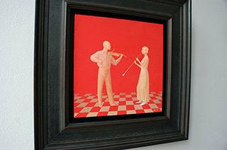 Mikołaj Kasprzyk : Duo : Oil on Canvas