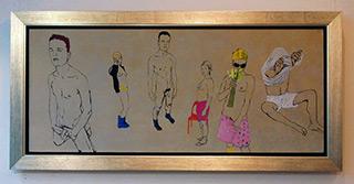 Agnieszka Sandomierz : Fries : Tempera on Canvas