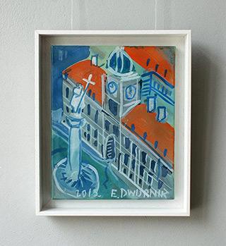 Edward Dwurnik : Royal Castle in Warsaw : Oil on Canvas