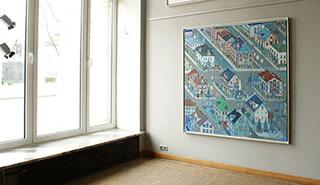 Edward Dwurnik : St. Gallen : Oil on Canvas