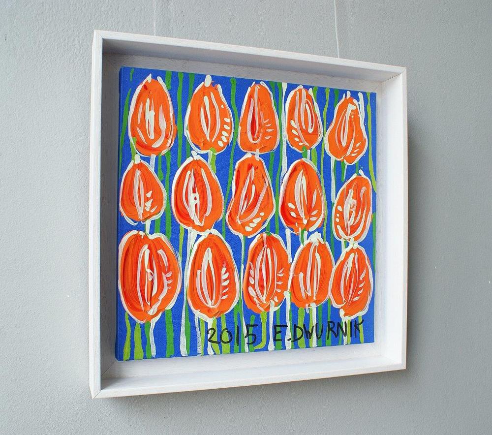 Edward Dwurnik : Tulips Right