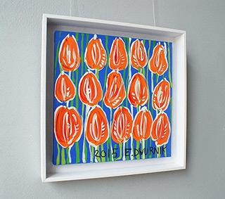 Edward Dwurnik : Tulips Right : Oil on Canvas
