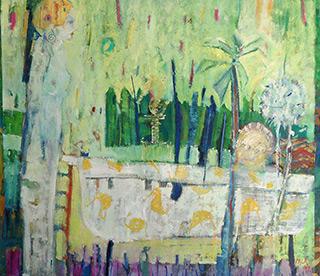 Darek Pala : Meeting at the bath 1992! : Oil on Canvas