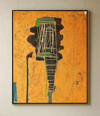 Ciro Beltrán : Painting T-9876 : Acrylic on canvas