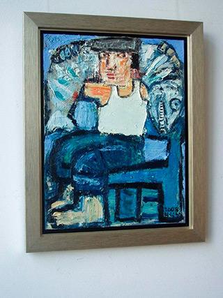 Krzysztof Kokoryn : Man with the fish : Oil on Canvas