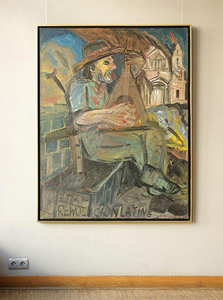 Edward Dwurnik : Rewolutionlatine : Oil on Canvas