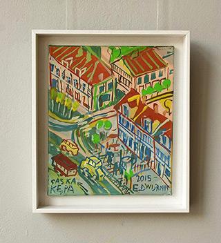 Edward Dwurnik : Saska Kępa : Oil on Canvas