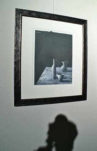 Łukasz Huculak : Still life on a black background : Tempera on canvas
