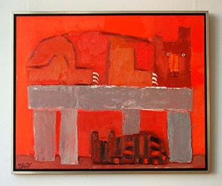 Krzysztof Kokoryn : Dog and cat : Oil on Canvas