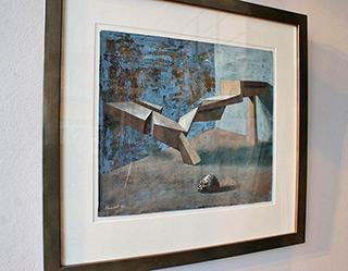 Łukasz Huculak : Structure : Tempera on canvas