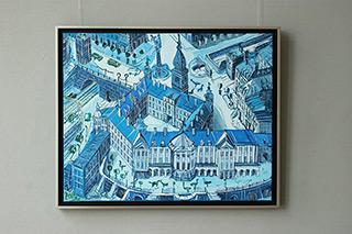 Edward Dwurnik : Blue Royale : Oil on Canvas