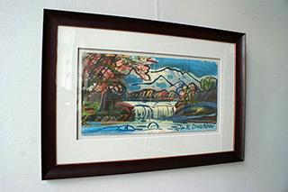 Edward Dwurnik : The image on the old landscape : Tempera on panel