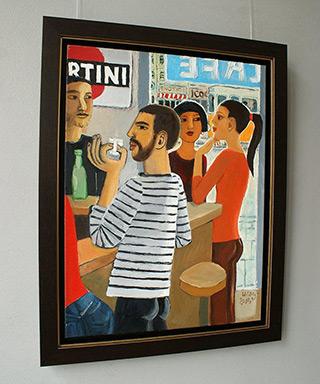 Krzysztof Kokoryn : At the bar : Oil on Canvas