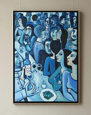 Krzysztof Kokoryn : Blue bar : Oil on Canvas