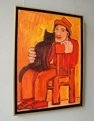 Krzysztof Kokoryn : Boy and the cat : Oil on Canvas