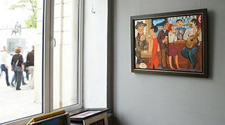 Krzysztof Kokoryn : Quilmes pub : Oil on Canvas