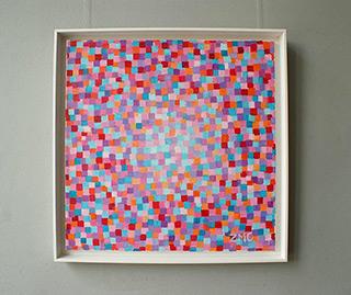 Zofia Matuszczyk-Cygańska : Pink - Blue : Oil on Canvas