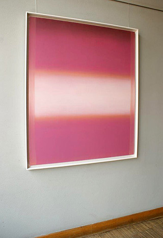 Anna Podlewska : Light outgoing from the pink : Oil on Canvas