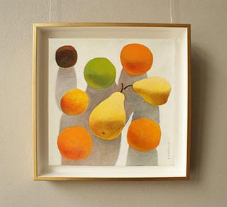 Katarzyna Castellini : Still life with apricots : Oil on Canvas