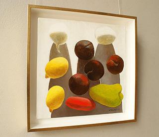 Katarzyna Castellini : Still life with plums : Oil on Canvas