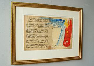 Jacek Łydżba : Angel from the songbook : Guache on paper