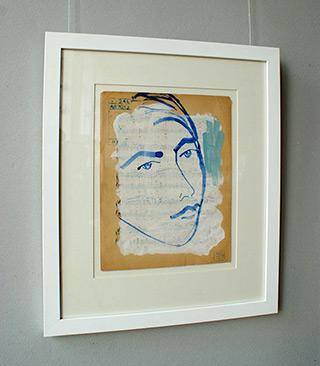 Jacek Łydżba : The boy's face : Guache on paper