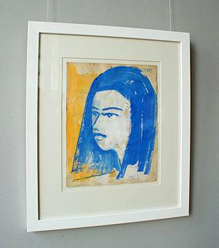 Jacek Łydżba : The girl's face : Guache on paper