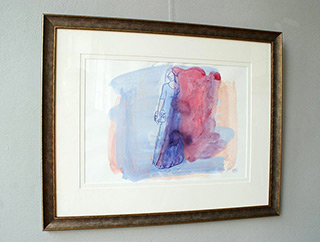 Jacek Łydżba : The girl with the head of Adonis : Guache on paper