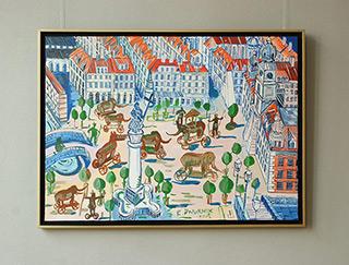 Edward Dwurnik : Warsaw - Old Town : Oil on Canvas