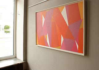 Joanna Stańko : Shift towards pink : Acrylic on canvas