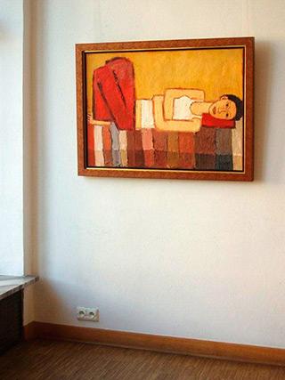 Krzysztof Kokoryn : Red trousers : Oil on Canvas