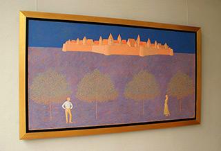Mikołaj Kasprzyk : Meeting under the castle : Oil on Canvas