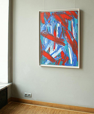 Edward Dwurnik : Abstract painting for Malgosia : Oil on Canvas