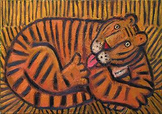 Krzysztof Kokoryn : Tiger : Oil on Canvas