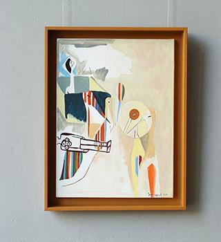 Jacek Cyganek : When you are gone : Tempera on canvas