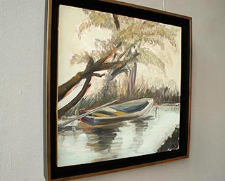 Bogna Gniazdowska : Landscape with boat I : Oil on Canvas
