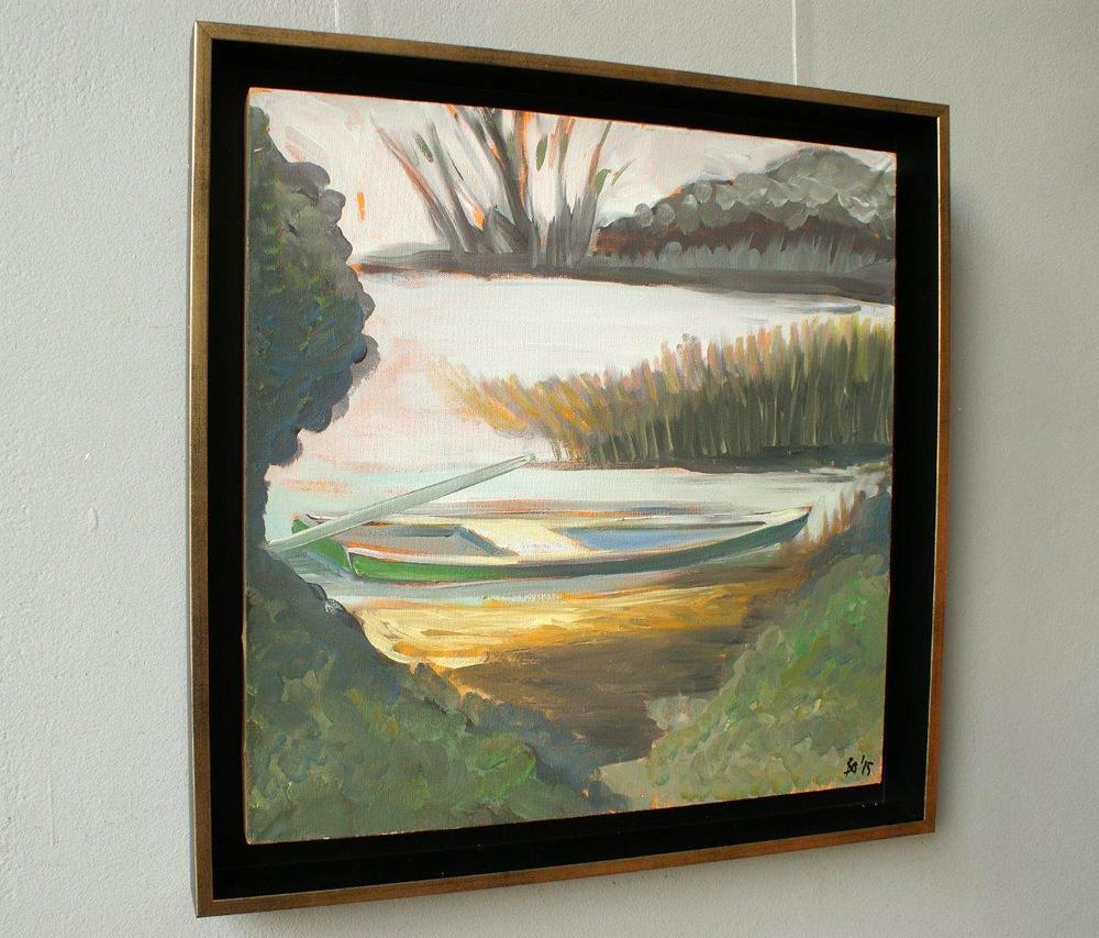 Bogna Gniazdowska : Landscape with boat II