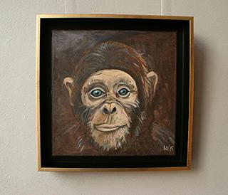 Bogna Gniazdowska : Monkey I : Oil on Canvas