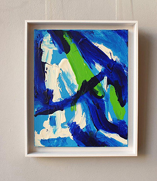 Edward Dwurnik : Abstrackt painting : Oil on Canvas