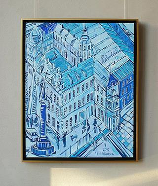 Edward Dwurnik : Royale Castle Blue : Oil on Canvas