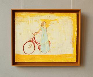 Jacek Łydżba : Cyclist I : Oil on Canvas