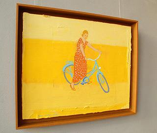 Jacek Łydżba : Cyclist II : Oil on Canvas
